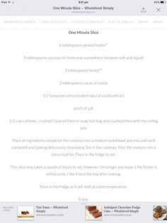 One Minute Slice