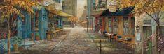 ruane manning original art | ... City Charm painting - Ruane Manning Embracing City Charm Art Print