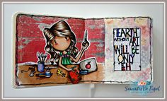 Sementes de papel, Art Journal, earth without art, copic + mixed media