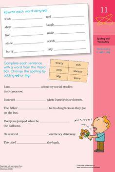 Worksheets: An End to the Affair Grammar Practice O Words, Grammar Practice, Verb Tenses, Grammar Worksheets, Language Arts, Sentences, No Worries, Affair, Teaching