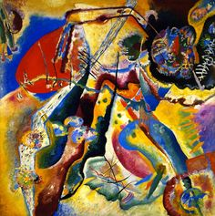 Painting with the Red Patch (Wassily Kandinsky - )