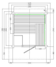 Gartensauna - Massivholz Blockbohlen - Satteldach - Grundriss Sauna Steam Room, Sauna Room, Sauna Design, Design Design, Pool Indoor, Pool Pool, Jacuzzi, Saunas, Bathroom