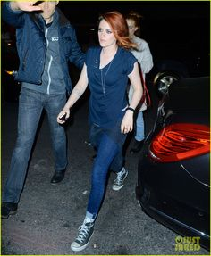 Kristen Stewart Switches to Jeans & Sneakers for Met Ball 2014 After Party with Pal Riley Keough!