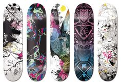 Skateboard, Design and Style: Design Skateboard From Vault49    That is some sexy skateboard design