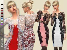 The Sims Resource: Sabrina dress by Birba32 • Sims 4 Downloads