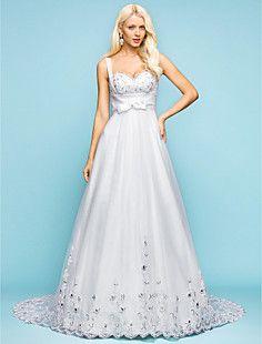 uma linha de trem tribunal namorada de tule vestido de noiv... – BRL R$ 349,86