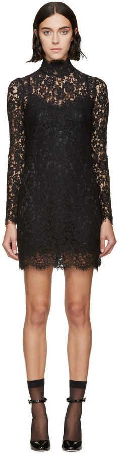 Dolce & Gabbana Black Lace Dress