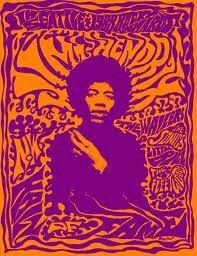 60s psychadelic poster jimi hendrix
