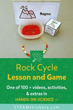 Lessons For Kids, Science Lessons, Games For Kids, Activities For Kids, Cycle For Kids, Rock Games, Rock Cycle, Science Programs, Steam Activities