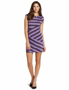 Fashion Nine West Dresses Women's Striped Roll Sleeve Sheath Dress - http://clothing.wadulifashions.com/fashion-nine-west-dresses-womens-striped-roll-sleeve-sheath-dress/
