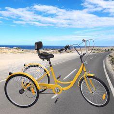 Unassembled-Adult-Tricycle-6-Speed-24-3-Wheel-Bicycle-Trike-Bike-with-Basket