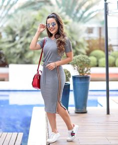 147 beautiful casual dress ideas for women – page 1 Modest Outfits, Skirt Outfits, Classy Outfits, Chic Outfits, Teen Fashion Outfits, Modest Fashion, Skirt Fashion, Fashion Dresses, Fashion Fall