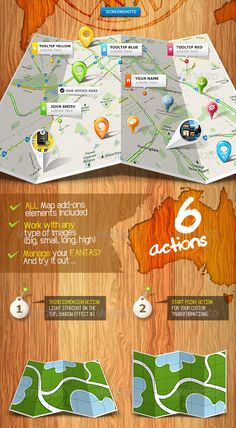 Folded 3D Map Photoshop Action Generator