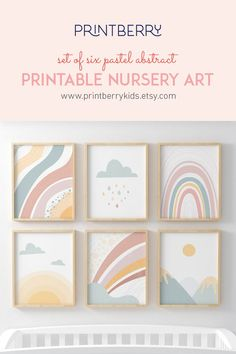Looking for a best birthday gift for your little one or boho nursery decors? Thanks to this abstract pastel posters collection you can create an unforgettable wall gallery and put a smile on your child's face. Pick 4 prints and pay only for 2 with '4FOR2' code. Click through to view more boho pastel prints options!  #bohemiandecor #nurseryprint #rainbowprint #abstractprint #pastelprint #sunprint #suncloudrainbow Pastel Nursery, Boho Nursery, Nursery Prints, Nursery Wall Art, Nursery Decor, Rainbow Bedroom, Rainbow Nursery, Playroom Wall Decor, Baby Room Decor