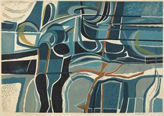 Peter Green 'Blue Shore' linocut. Find out more http://allthingsconsidered.co.uk/2015/06/peter-green-2.html