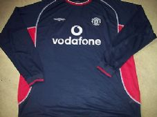 302b498d582 2000 2001 Manchester United Away L S Long sleeved Football Shirt Top XXL Man  Utd