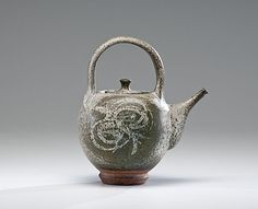 Masterworks: Peter Voulkos Early Teapot with Wax Resist Decoration          Price Realized: $4,993.75