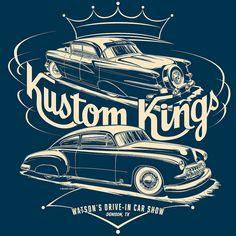 Kustom Kings 2011 - by Mike Shoaf Retro Cars, Vintage Cars, Cult, Garage Art, Car Illustration, Kustom Kulture, Car Posters, Lowbrow Art, Car Drawings