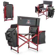 Arizona Wildcats Fusion Chair with side table and cooler