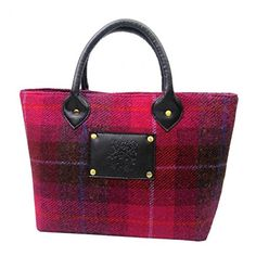 Harris Tweed Womens/Ladies Authentic Premium Handbag (One Size) (Cerise) ** For more information, visit image link.