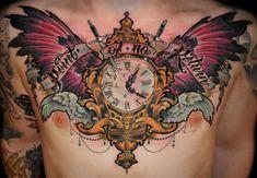 chest-clock-tattoo.jpg (500×347)