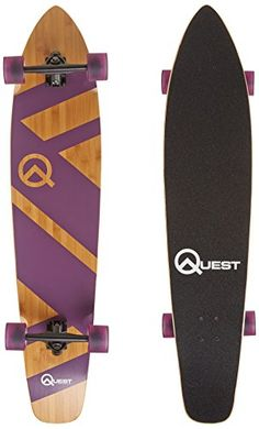 Quest Skateboards Super Cruiser Longboard Skateboard, Purple, 44-Inch / dealsCube