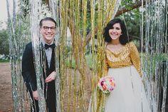 amazing gold + sparkly wedding!!