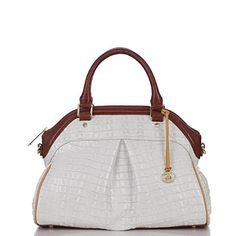 Brahmin Tri-texture Collection Louise Satchel Macaroon La Scala >>> Continue to the product at the image link.