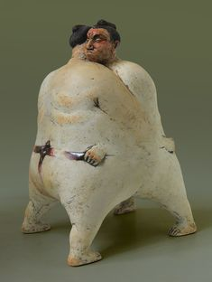 Modern Sculpture, Sculpture Art, Sumo, Ceramic Sculptures, Ceramic Art, Sculpting, Concrete, Art Gallery, Artisan