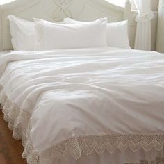 Share this page with others and get 10% off! Cotton Lace Duvet Cover Set