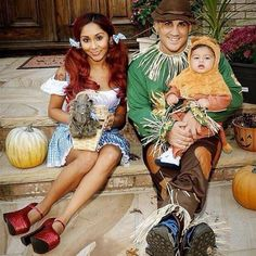 "Snooki posted this on Oct. 31, 2013, with the caption, ""Happy Halloween from me and my fam!!!! ❤️"""