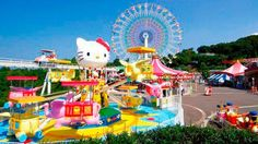 Hello Kitty Theme Park Tokyo japan omg my baby would flip out for this it looks so much fun