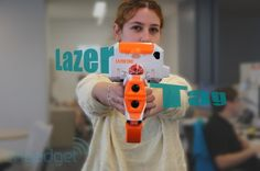 Combining AR with toy guns and iOS -- Hasbro Lazer Tag handson video