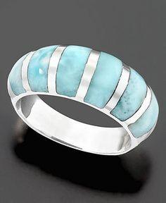 Larimar ring, my favorite!