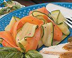 Steamed Ribbons of Vegetables