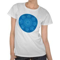 Energy Mandala - Blue T Shirts