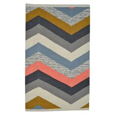 Nate Berkus 2x3' Multi Chevron Accent Rug - Cool colors for a blanket?