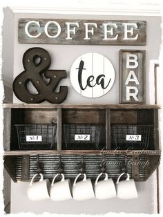 Coffee Bar Ideas - Looking for some coffee bar ideas? Here you'll find home coffee bar, DIY coffee bar, and kitchen coffee station. Coffee Nook, Coffee Bar Home, Coffee Wine, Diy Coffee Table, My Coffee, Coffee Bar Ideas, Diy Coffee Shelf, Coffe Bar Signs, Coffe Corner