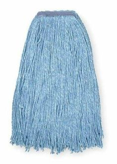 4-Ply Cut-End Wet Mops Wet Mop,Sz #32, Blue,Cut End by VALUE BRAND. $4.59. Cut-End Wet Mop, Material CottonBlue, Launderable Yes, Headband Size 1 In., Length 21 In., Width 6-1/2 In., 4 Ply