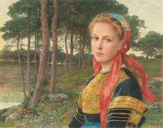 La foret de Broceliande by Elisabeth Sonrel (french painter)