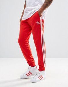 7feeda2bcb39c adidas Originals Trefoil Cuffed Joggers AY7703 Joggeurs Maigres, Pantalons  De Survêtement Hommes, Les Originaux