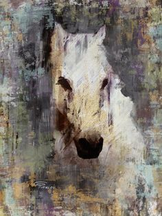 Color Queen. Extra Large Horse Canvas Art Print up by irenaorlov