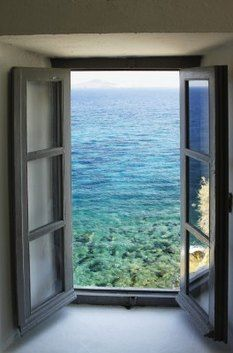 Window with an ocean view...