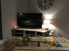 Meuble tv et table 6 caisses