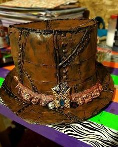 Completed Project: Diy Duct Tape Steampunk Top Hat Picture #1