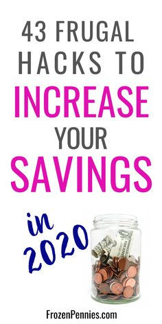 43 Irresistible Frugal Hacks To Increase Your Savings - Frozen Pennies - Finance tips, saving money, budgeting planner Living On A Budget, Frugal Living Tips, Frugal Tips, Simple Living, Debt Free Living, Best Money Saving Tips, Money Saving Challenge, Saving Money, Money Tips