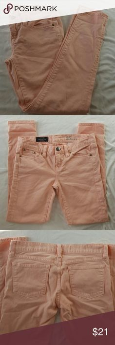 J crew toothpick ankle jeans J crew toothpick ankle jeans in light pink size 25. Great condition. J. Crew Pants Ankle & Cropped