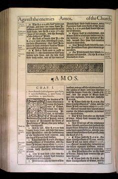 Amos Chapter 1 Original 1611 Bible Scan, courtesy of Rare Book and Manuscript Library, University of Pennsylvania