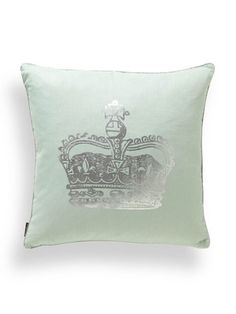 Victoria Pillow by Blissliving HOME - Mint & Silver