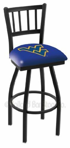 "30"" West Virginia Bar Stool - Swivel with Black Ring and Vertical Back by NCAA. $202.83. The 30"" West Virginia Bar Stool with Swivel features a black ring footrest and a 16.2"" x 15"" vertical slotted back rest. This licensed stool from Holland Bar Stool is a great looking addition to any bar or man cave. Provide a great place to sit while still supporting your favorite team. This barstool is made in the USA out of steel and heavy duty vinyl so it is sure to last and look..."